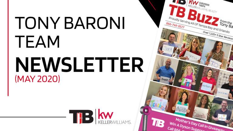 TB Buzz - Tony Baroni Newsletter - May 2020