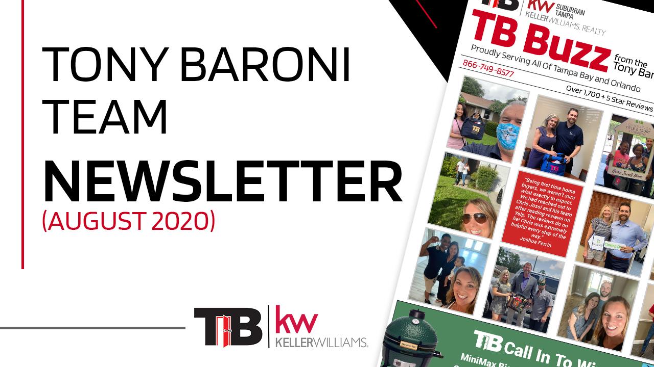 Tony Baroni Team Newsletter (August 2020)