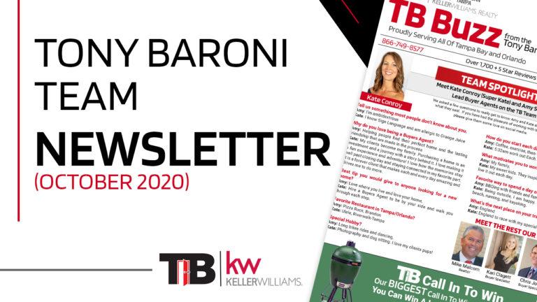 Tony Baroni Team - October Newsletter