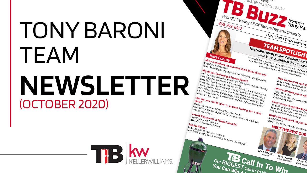 Tony Baroni Team Newsletter (October 2020)